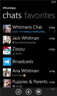 Whats app для windows phone