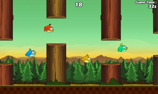 Неловкие Птицы - Clumsy Bird на андроид