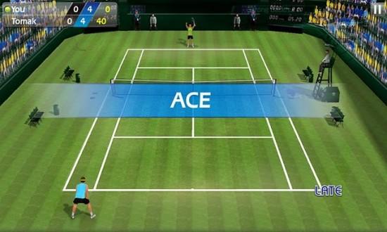 Теннис пальцем (Tennis 3D) на андроид