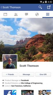 Facebook на андроид