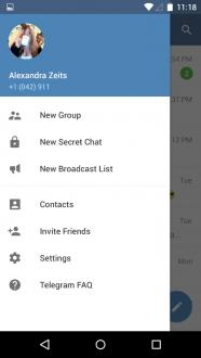 Telegram на андроид
