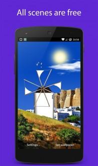Ветряные мельницы живые обои