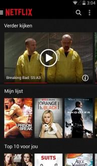 Netflix для android