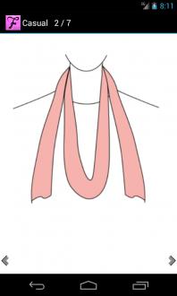 Как завязать шарф для андроид