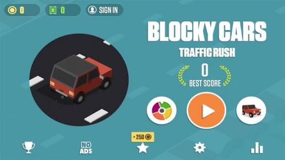 Blocky Cars: Traffic Rush для android