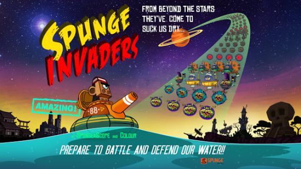 Spunge Invaders на андроид