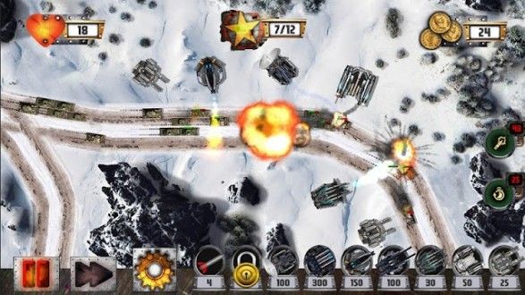 Tower Defense: Tank WAR на Android